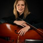Dr. Christine Kralik with her cello