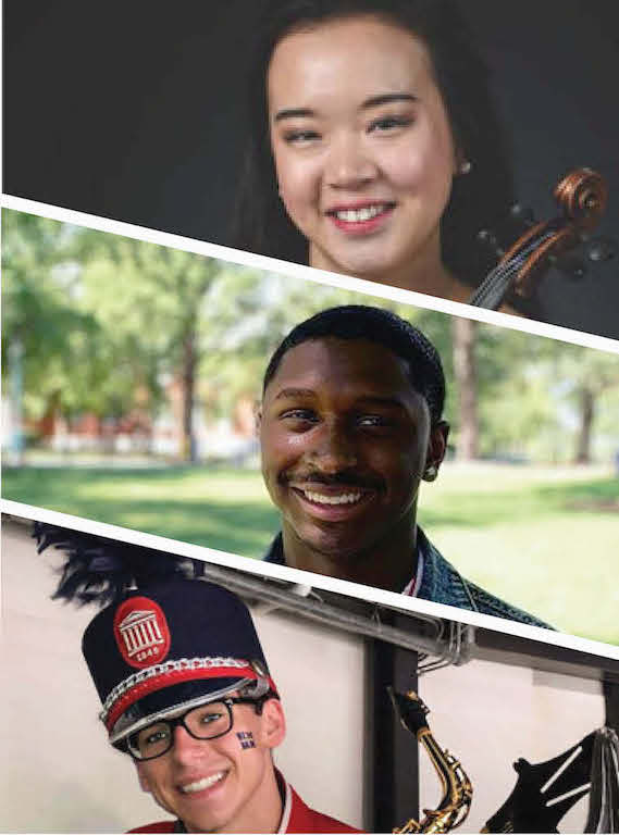 Department of Music Student Ambassadors, Parker Peterson and Ontarius Woodland